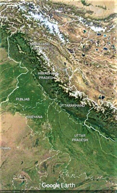 Does Haryana Shares Its Boundary With Uttarakhand - Haryana and its Boundary